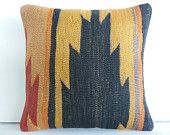 Southwest kilim pillow cover Eclectic throw pillow case outdoor decorative throw…
