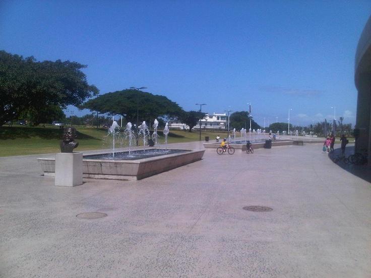 Fountains outside Moses Mabhida Stadium