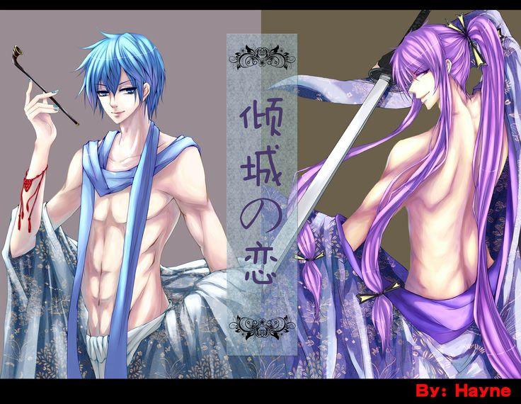 Kaito and Gakupo!! *Dies* so hot...