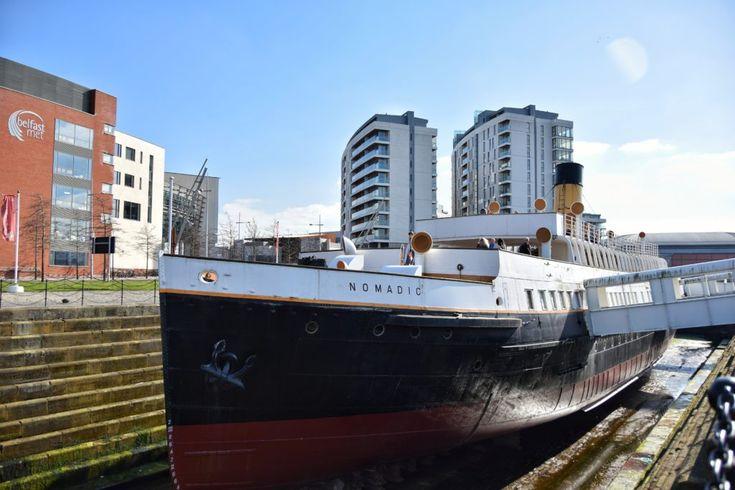 La SS Nomadic, la nave tender del Titanic, è ormeggiata a Belfast e si può visitare. è proprio di fronte al museo Titanic Belfast!