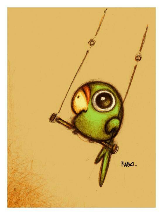 parrot drawing idea
