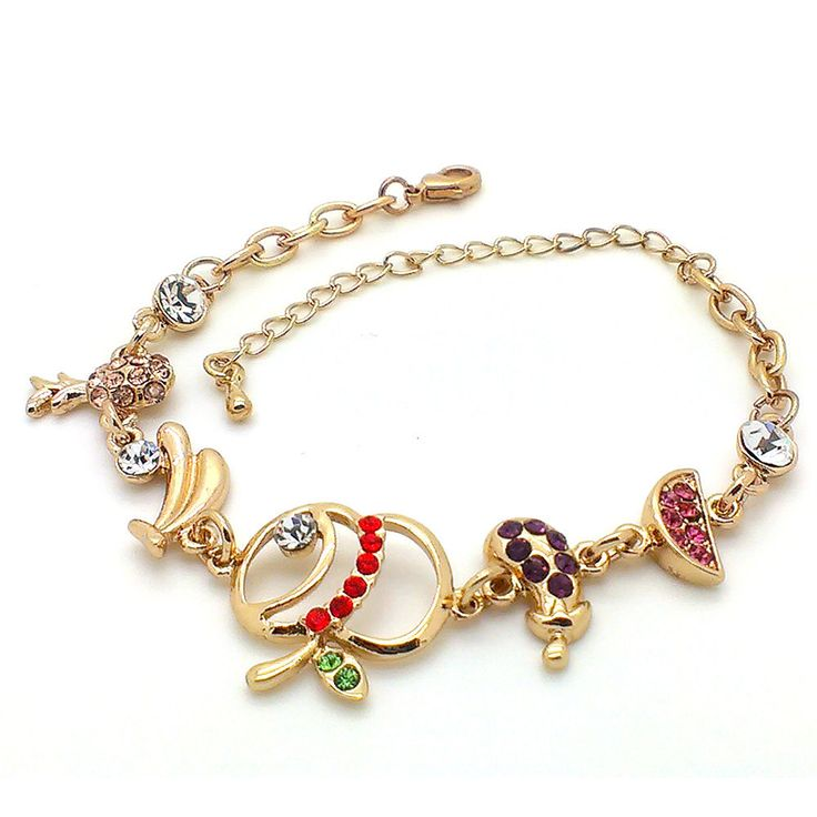Beora Rose Gold Plated Apple Crystal Chain Bracelet by Trendy Mela. Buy this at just Rs.499. Use coupon code for discount. Buy Now @ Trendymela.com
