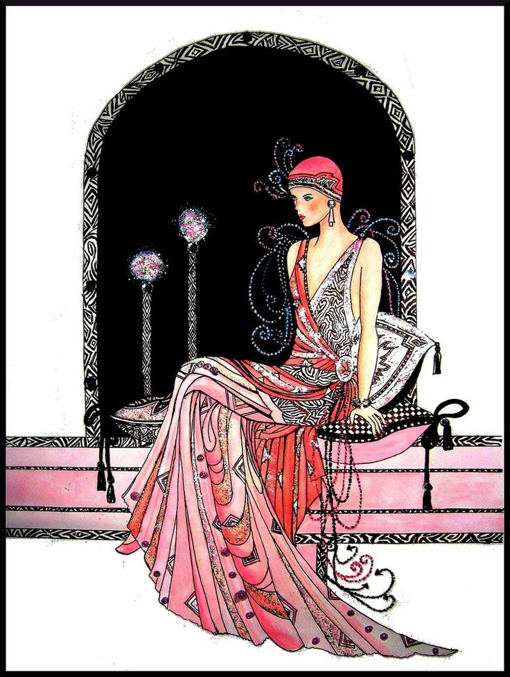 11 Clintons Art Deco Lady Embellished Christmas Cards Art Deco