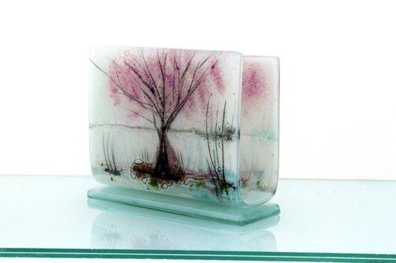 fused glass napkin holder