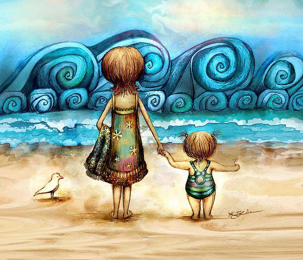 Beachcombers Fine Art Print - Karin Taylor