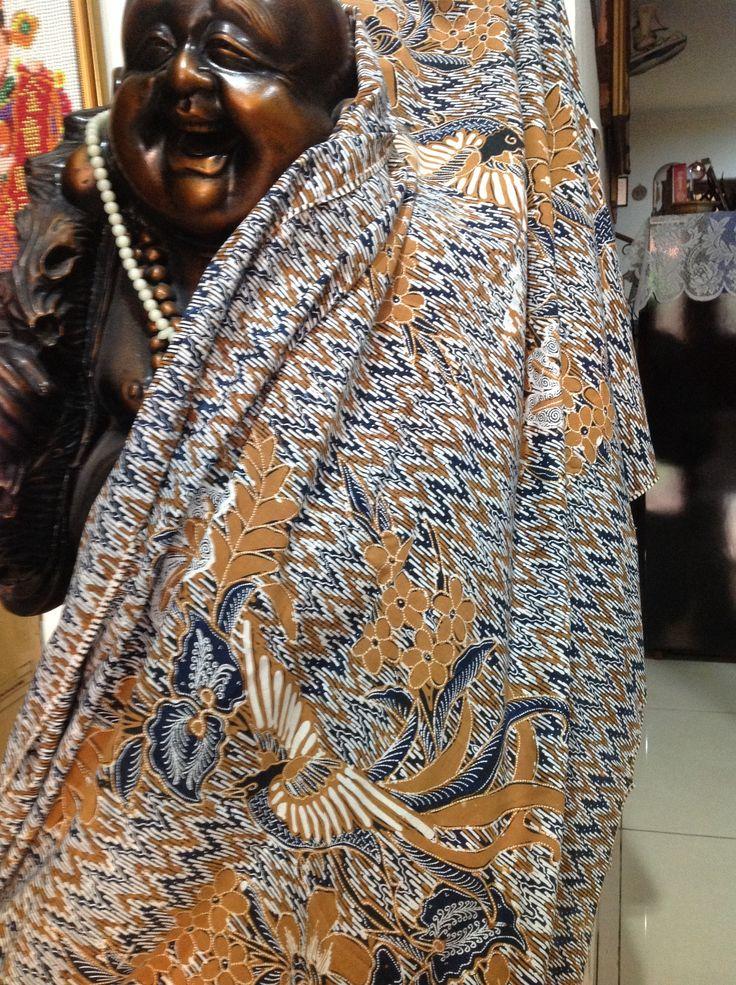 chevron style handdrawn batik