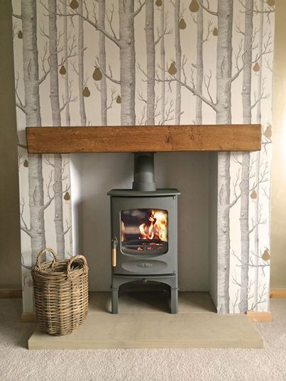 Charnwood c four in gunmetal with wood store stand