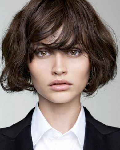 short haircuts for wavy hair on pinterest