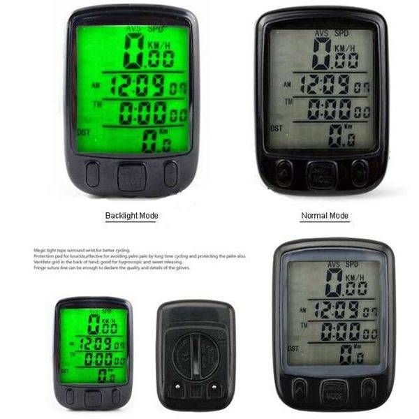 EU Direct | Super Large Screen LED Display Cycling Bicycle Bike Computer Odometer Speedomete