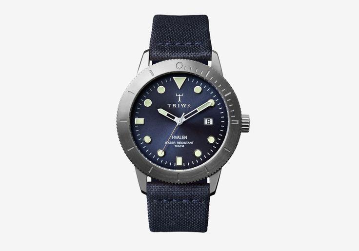 Hodinky Triwa — Baltic Hvalen — dámské a pánské — modré, ocelové pouzdro — luxusní, náramkové #triwa #watches #hodinky #luxury #mens #womens