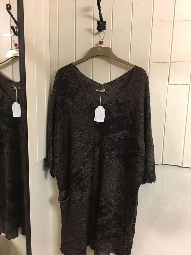 Crea Black And Brown Tunic Size 16  | eBay