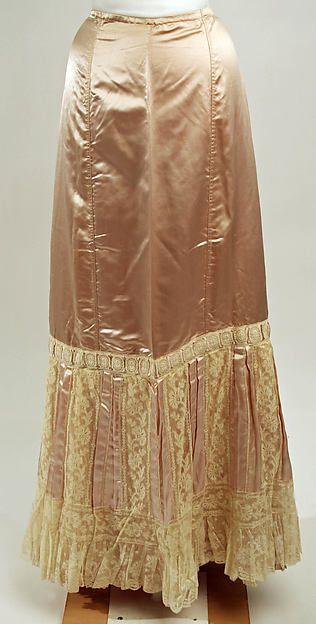 Petticoat  --  Circa 1900  --  European  --  Silk  --  The Costume Institute at The Metropolitan Museum of Art