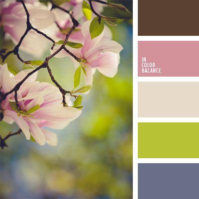 color de las violas, color verde hierba, colores verde lechuga y violeta, lila azulado, malva azulado, tonos cálidos, tonos pastel, tonos rosados, verde lechuga y tonos rosados, violeta azulado.