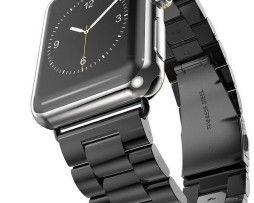 iWatch náramok na Apple hodinky z článkovej ocele - čierny http://www.luxusne-doplnky.eu