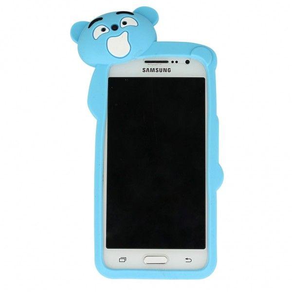 G900f Galaxy S5 Neo Samsung Etui / obudowa gumowa plecki Mr Bear MIŚ niebieski