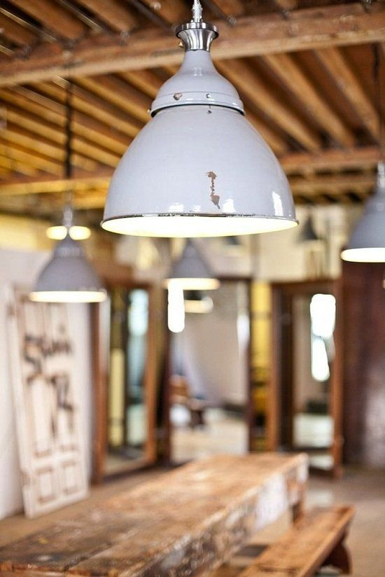 Industrial Kitchen Design ❤ that lighting