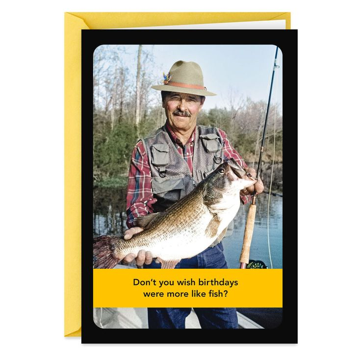 Fishing catch and release funny birthday card in 2020