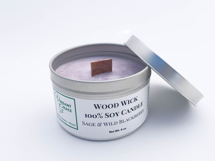 Sage & Wild Blackberry 100% Soy Wood Wick Candle, 6oz