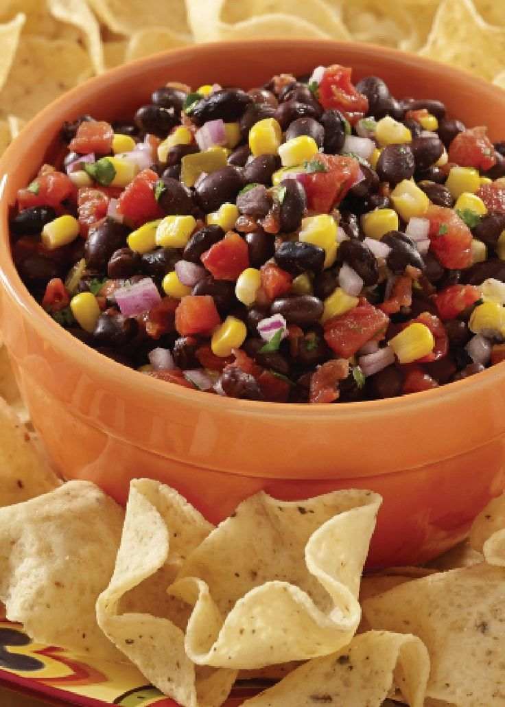 Spicy Black Bean Salsa - a spicy, colorful appetizer that is perfect for snacking solo or when socializing with friends!