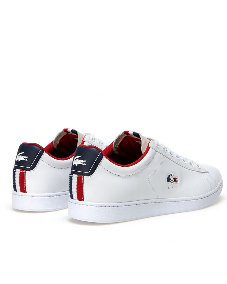White Lacoste Shoes - Carnaby Evo