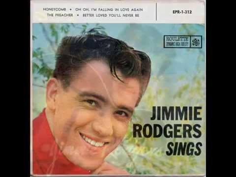 Today 9-15 in 1957 our radios were playing the newest song from singer Jimmie Rodgers - 'Honeycomb'