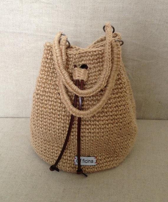 39bbed5ac3 Julie Crochet Jute bag by officinafw on Etsy