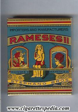 "Cigarette packet ""Rameses II"", Stephano Brothers USA"