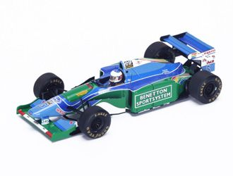 Benetton B194 No.5 (Michael Schumacher - Winner Monaco GP 1994) in Blue (1:43 scale by Spark S4481)