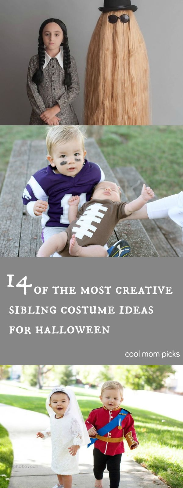 14 creative, cool sibling Halloween costume ideas for kids of any age. Love all these ideas!