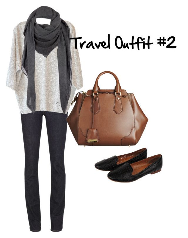 Travel Outfit #2 by kveldman on Polyvore featuring Stella Forest, J Brand, Burberry, Comptoir Des Cotonniers and Dolce Vita