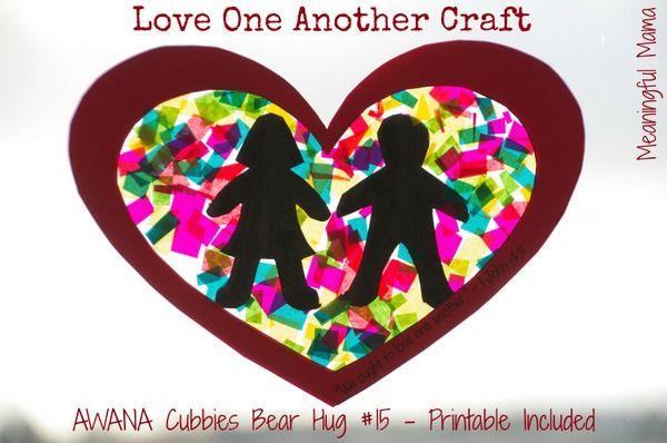Love One Another Craft - Awana Cubbies Bear Hug #15 - Meaningfulmama.com