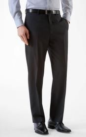 Stylish and comfortable men's Alberto black slim fit dress pants.