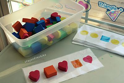 shape patterns from target $1 spot foam shapes #crayonfreckles