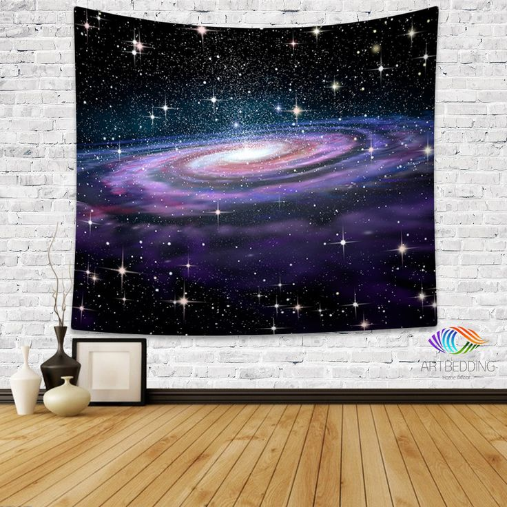 Galaxy Tapestry, Spiral galaxy in deep space with stars wall tapestry, Galaxy tapestry wall hanging, Spiral galaxy wall tapestries, Galaxy home decor, Space wall art print, Stars wall hanging, 3D deep space spiral galaxy illustration wall hanging
