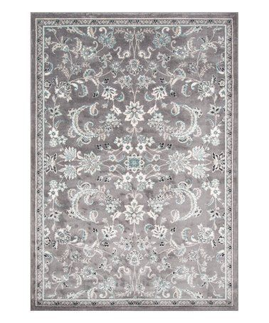 Another great find on #zulily! Gray Damask Rug #zulilyfinds
