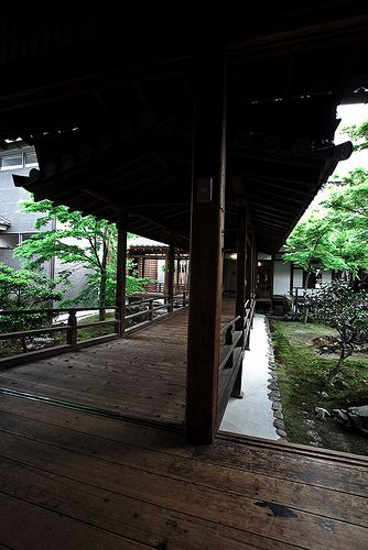 Courtyard in Kyoto Kennin-ji Temple.