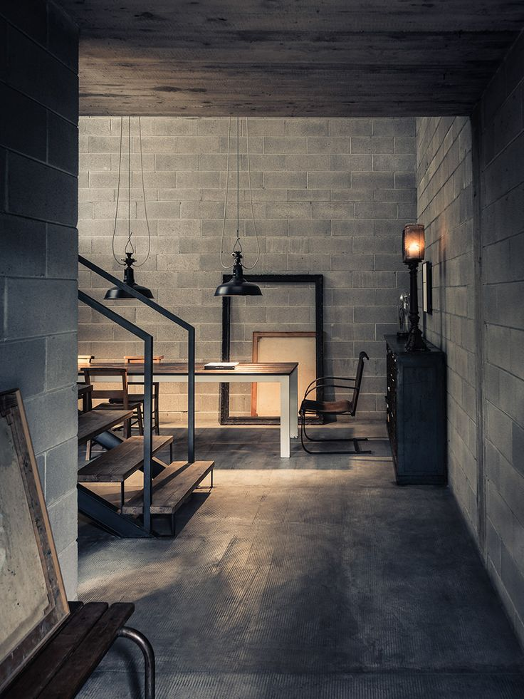 820 Best Industrial & Loft Style Images On Pinterest | Live, Home ... Industrial Design Wohnzimmer