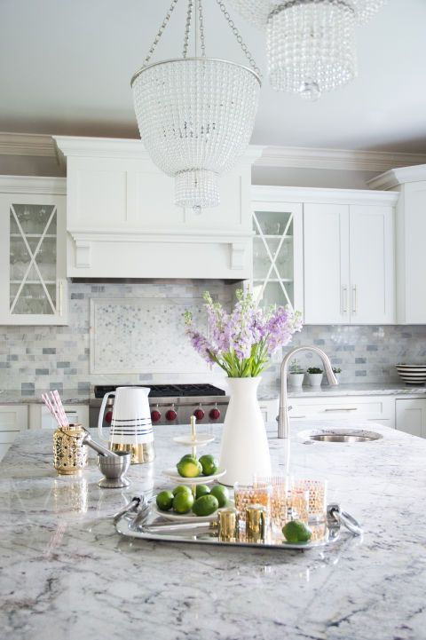 """I love the addition of the lighting in this space. It really gives the kitchen a polished look, and adds a touch of elegance."" -Naina Singla"