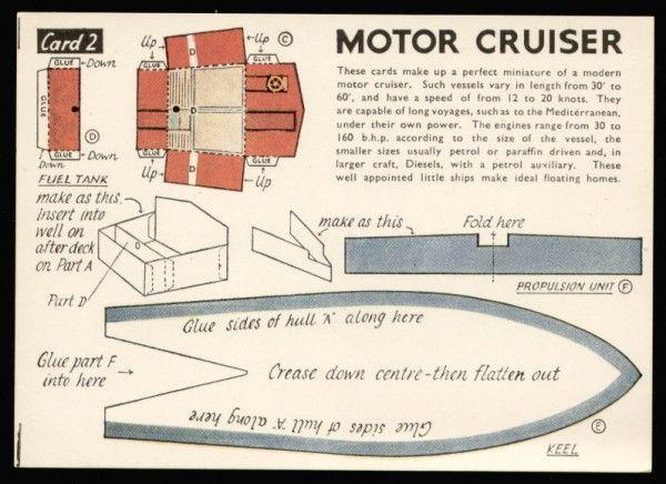 Motor Cruiser first edition card 2 Modelcraft