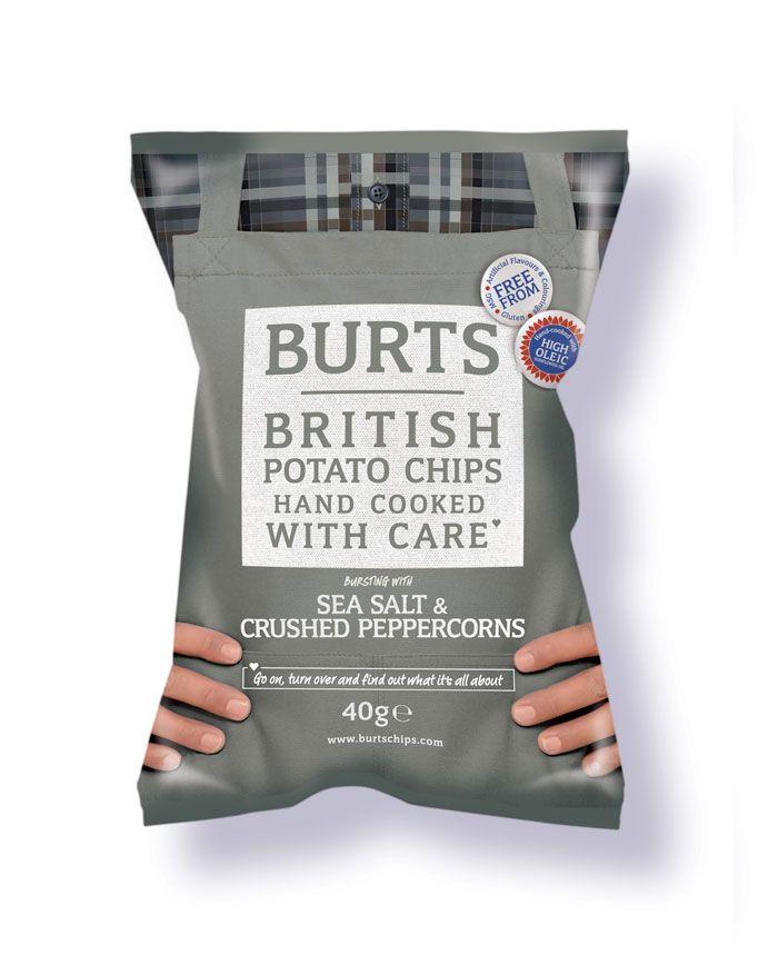 Burts crisps packaging, Tea Creative