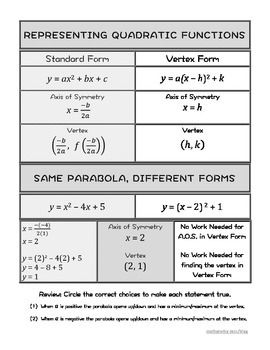how to turn quadratic form to vertex form