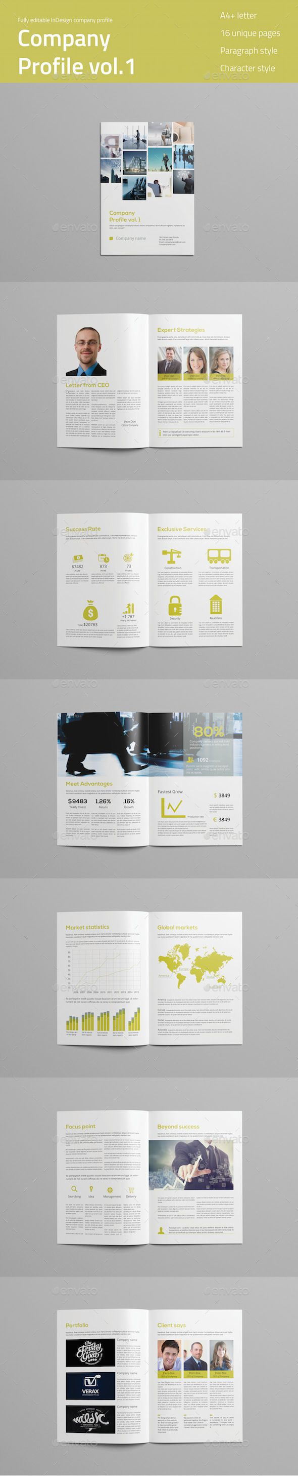 Company profile brochure template brochure design for Company profile brochure template