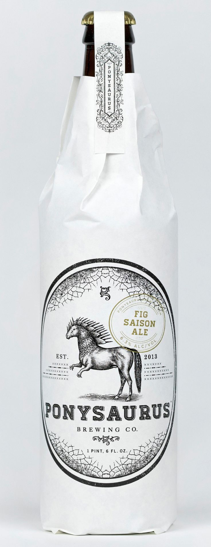 New Logo and Packaging for Ponysaurus by Baldwin&, illustration by Steven Noble