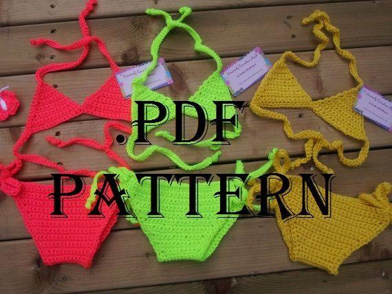 INSTANT DOWNLOAD .pdf crochet baby bikini by HadleyDesignsCA