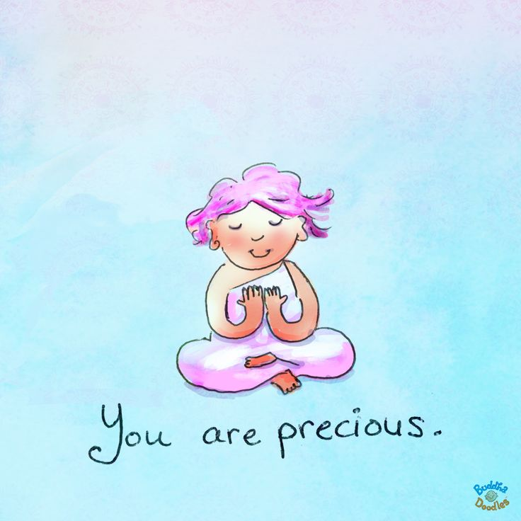 *Today's Buddha Doodle* - A Sweet Reminder: You are precious.