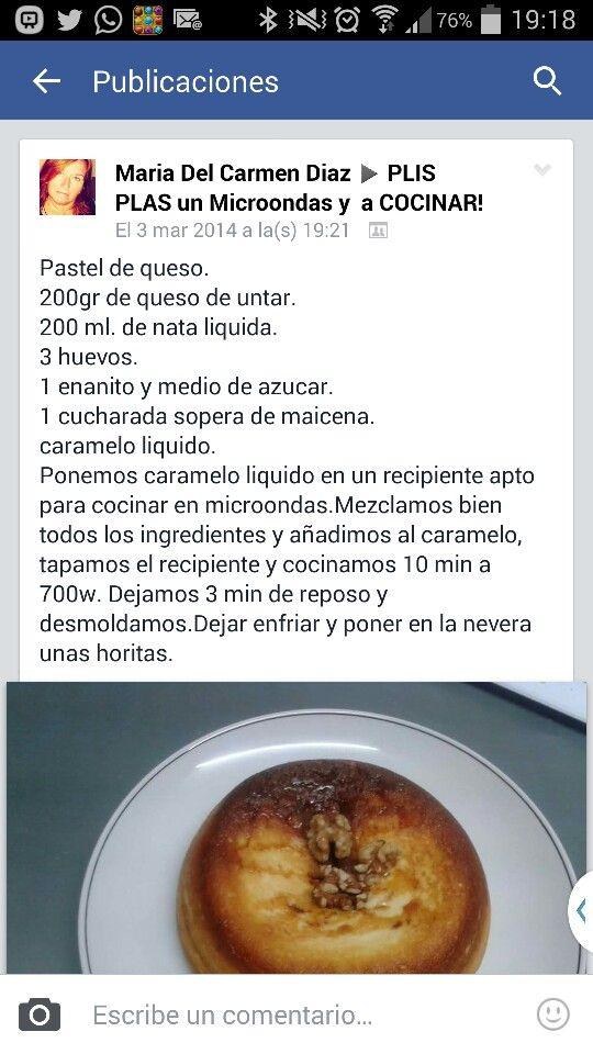 Pastel de queso microondas