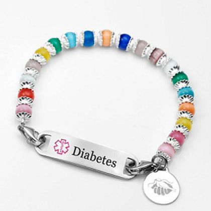 womens alert bracelet 17 best images about beaded id bracelets on id 1134