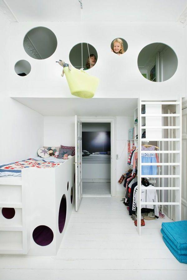 Kinderzimmer fantasievoll einrichten Bett Baumhaus
