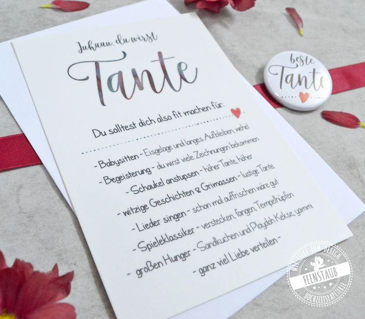 """Karte """"Tante"""" – Carolin Lichtwark"""