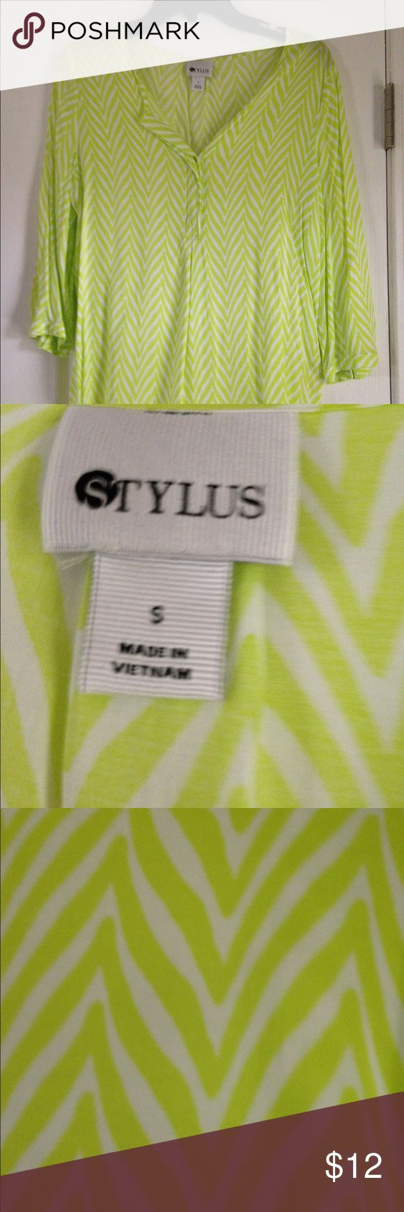Stylus Chevron Top This three quarter sleeve top is lightweight and very comfortable. Stylus Tops Blouses